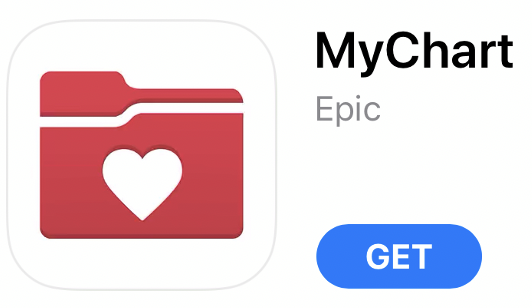 The mychart icon in the app store